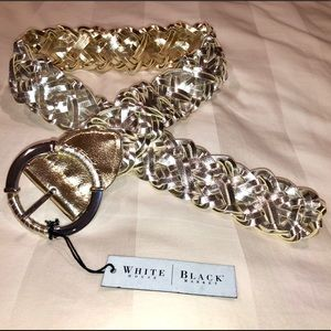 NWT Reversible silver & gold WHBM Belt